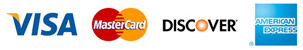 Visa, Mastercard, American Express, or Discover